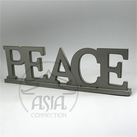 "PLACA DECOR APARADOR ""PEACE"""