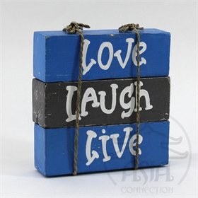 "PALAVRAS DECOR ""LOVE/LAUGH/LIVE"" CJ(3)"