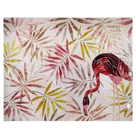 QUADRO DECOR FLAMINGO A 120CM